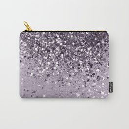 Sparkling Lavender Lady Glitter #2 #shiny #decor #art #society6 Carry-All Pouch