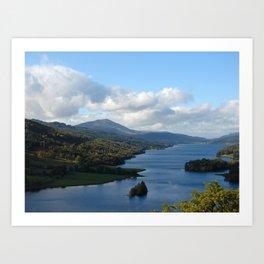 Queens View, Scotland Art Print