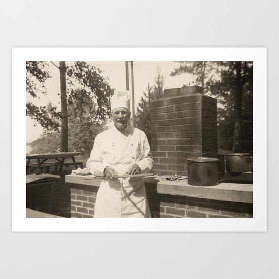 The Chef - A Vintage Portrait Art Print