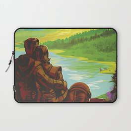 NASA Retro Space Travel Poster #2 - Earth Laptop Sleeve