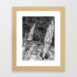 City of silence Framed Art Print