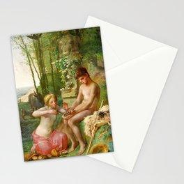 Jean-Francois Millet - Spring, Daphnis And Chloe - Digital Remastered Edition Stationery Cards