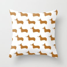 Corgis Throw Pillow