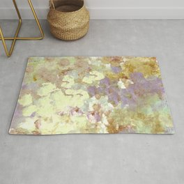 Lavender and Yellow Bouquet Rug