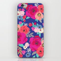 Sweet Pea Floral Blue Bright Color iPhone & iPod Skin