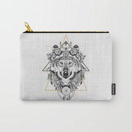 Into the wild - Wofl in aztec style Carry-All Pouch