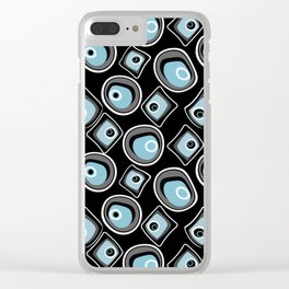 Retro . Abstract pattern on black background . Clear iPhone Case