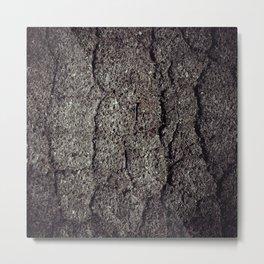 Cracked asphalt road Metal Print