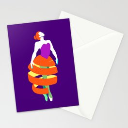 Orange peel ballerina dance Stationery Cards