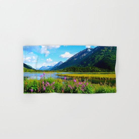God's Country - Summer in Alaska Hand & Bath Towel