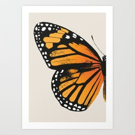 Monarch Butterfly | Left Butterfly Wing | Vintage Butterflies | Art Print