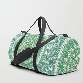 Green Mandala Pattern Duffle Bag