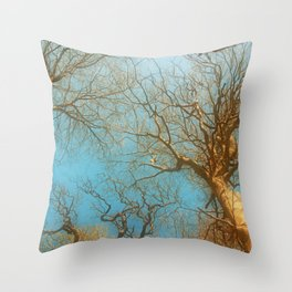 High up in the early  fresh Spring Air Throw Pillow