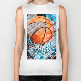 Modern basketball art 3 Biker Tank