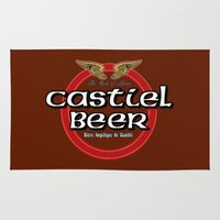 castiel Area & Throw Rugs featuring Castiel Beer by Nana Leonti