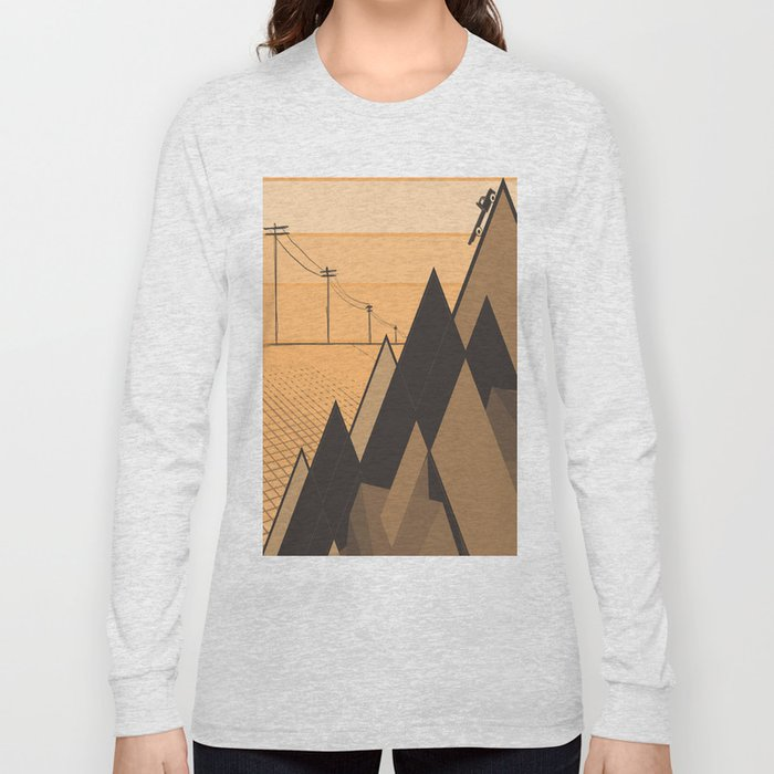 Little mountains and a car  Long Sleeve T-shirt