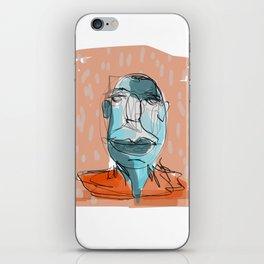 Happy Mr. Blue iPhone Skin