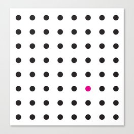 The Unruly Pink Dot Canvas Print