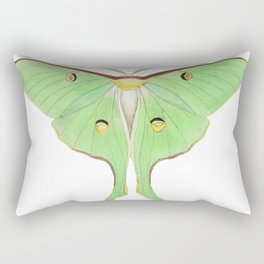Luna or Large pea-green phalaena  from The Naturalists Miscellany (1789-1813) by George Shaw (1751-1 Rectangular Pillow
