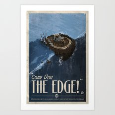 Grim Fandango Vintage Travel Poster - The Edge Art Print