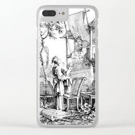 Child Reaching for a Caged Bird Clear iPhone Case