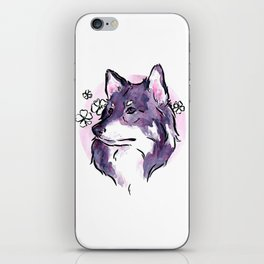 Purple Wolf iPhone Skin