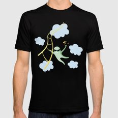 Always Cool Fly With The Wind Black MEDIUM Mens Fitted Tee