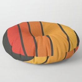 Retro 70s Stripes Floor Pillow