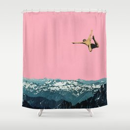Higher Than Mountains Shower Curtain