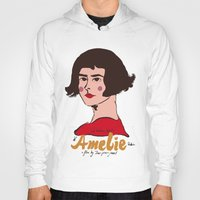amelie Hoodies featuring Amelie Print 3 by Saffa Khan