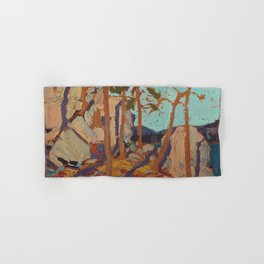 Tom Thomson - Pine Cleft Rocks - Canada, Canadian Oil Painting - Group of Seven Hand & Bath Towel