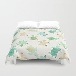 Gilded Jade & Mint Turtles Duvet Cover