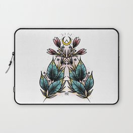 Symmetrical Floral Tattoo Design Laptop Sleeve
