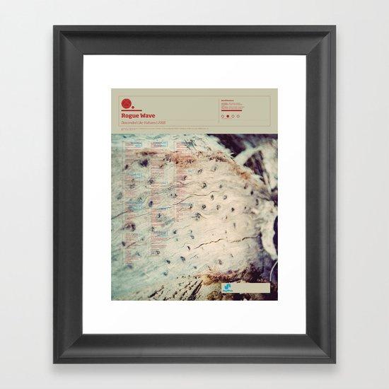 The Visual Mixtape 2010 | Descended Like Vultures | 25 / 25 Framed Art Print