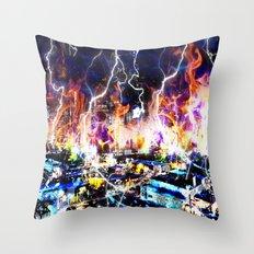 burn baby Throw Pillow