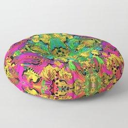 Neon Scribbler Floor Pillow
