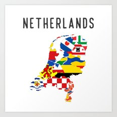 Netherlands country regions Art Print