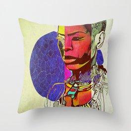 Royal Badu Throw Pillow