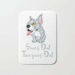 Pitbull Edition SunsOutTonguesOut Bath Mat