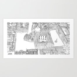 Czech Republic Prague _ Illustration _ Drawing _ Travel _ City _ Wall Decor _ Design Art Print