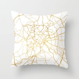 ROME ITALY CITY STREET MAP ART Throw Pillow