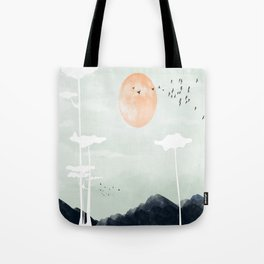 all the way back to the nest Tote Bag