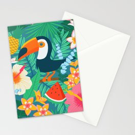 Tropical Flow Stationery Cards