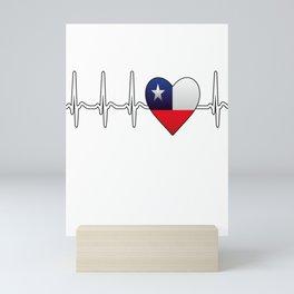 Chile heartbeat Mini Art Print