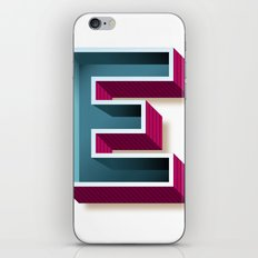 The Letter E iPhone & iPod Skin