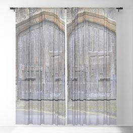 Oxford door 13 Sheer Curtain
