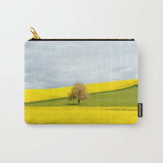 Tree in Yellow Field Carry-All Pouch