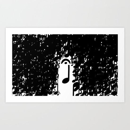 Musical Rain Art Print