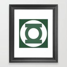 Green Lantern Vector Logo Framed Art Print