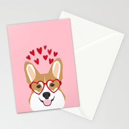 Corgi welsh corgi cute love hearts dog valentines day gifts for dog lover Stationery Cards